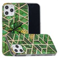 Coque TPU Marble Pattern Galvanisé IMD pour iPhone 12 Pro Max