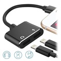 Adaptateur Lightning Charge & Audio 2-en-1 - Noir