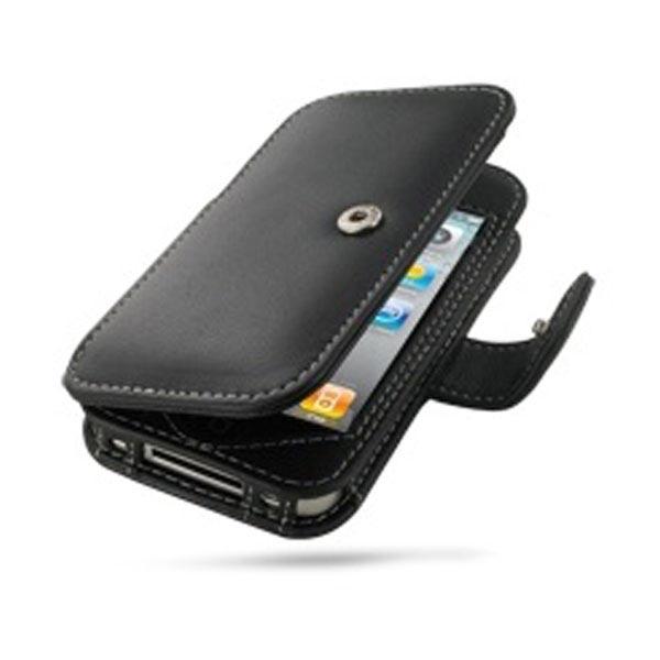 Housse en cuir pdair 3bipp4b41 pour iphone 4 4s noire for Housse cuir iphone 4