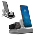 Station d'Accueil 3-en-1 Aluminum Alloy pour iPhone, Apple Watch, AirPods