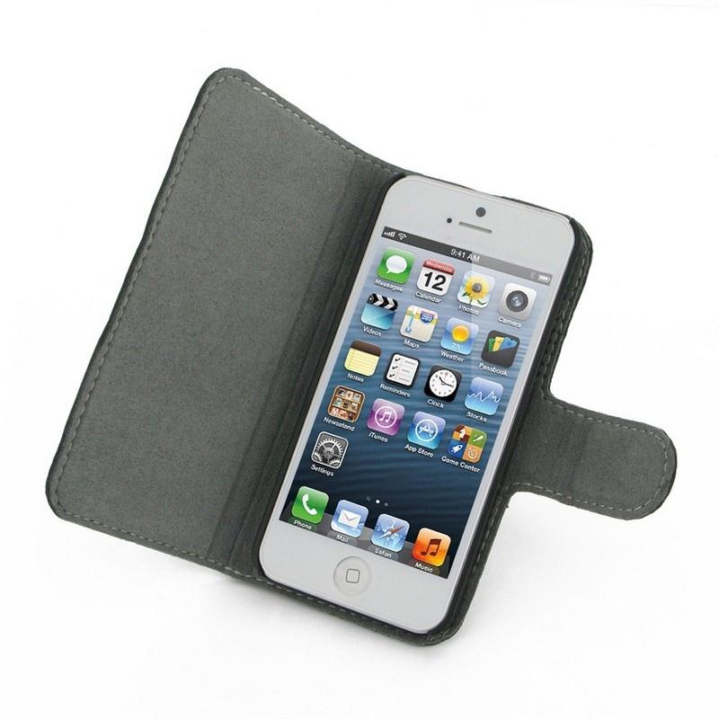 Housse en cuir pdair 3bipp5b41 pour iphone 5 5s se noire - Housse iphone 5s ...