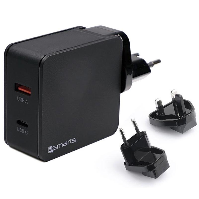 1 USB Chargeur mural rapide QC3.0 Chargeur de voyage avec