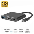 Adaptateur Multiport USB-C 4smarts OfficeCord - Samsung Dex, Huawei MateDock