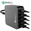 Station d'Accueil Multiport 4smarts VoltPlug QC 3.0 - Type-C & 4 USB - 40W