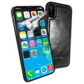 iPhone X / iPhone XS Alston Craig Magnetic Leather Case - Black