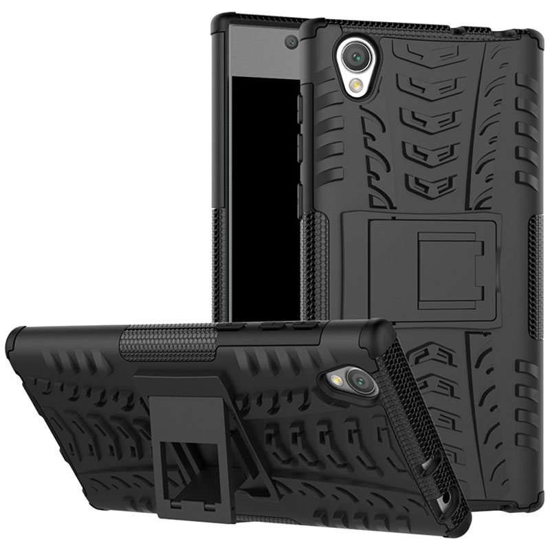 coque hybride antid rapante pour sony xperia l1 noire. Black Bedroom Furniture Sets. Home Design Ideas
