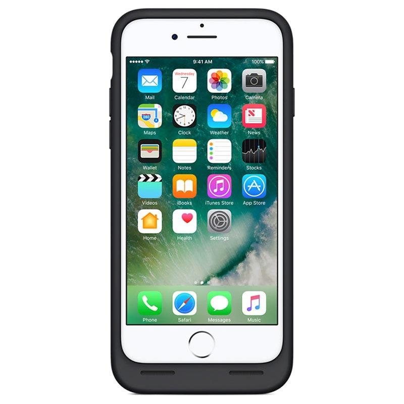 coque batterie apple mn002zm a smart pour iphone 7 noire. Black Bedroom Furniture Sets. Home Design Ideas