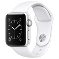 Apple Watch 2 MNNW2ZD/A - Bracelet Sport - 38mm - Argenté / Blanc