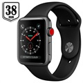 Apple Watch Series 3 LTE MQKG2ZD/A - Aluminium, Bracelet Sport, 38mm, 16Go - Noir/Gris Sidéral