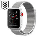 Apple Watch Series 3 LTE MQKJ2ZD/A - Aluminium, Boucle Sport, 38mm, 16Go - Coquillage/Argenté