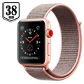 Apple Watch Series 3 LTE MQKL2ZD/A - Aluminium, Boucle Sport, 38mm, 16Go - Rose des Sables/Doré