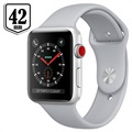 Apple Watch Series 3 LTE MQKM2ZD/A - Aluminium, Bracelet Sport, 42mm, 16Go - Argenté/Nuage