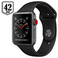 Apple Watch Series 3 LTE MQKN2ZD/A - Aluminium, Bracelet Sport, 42mm, 16Go - Gris Sidéral/Noir