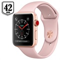 Apple Watch Series 3 LTE MQKP2ZD/A - Aluminium, Bracelet Sport, 42mm, 16Go - Doré/Rose des Sables