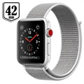Apple Watch Series 3 LTE MQKQ2ZD/A - Aluminium, Boucle Sport, 42mm, 16Go - Argenté/Coquillage