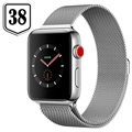Apple Watch Series 3 LTE MR1N2ZD/A - Acier Inoxydable, Bracelet Milanais, 38mm, 16Go - Coquillage/Argenté