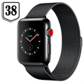 Apple Watch Series 3 LTE MR1Q2ZD/A - Acier Inoxydable, Bracelet Milanais, 38mm, 16Go - Gris Sidéral/Olive Sombre