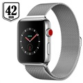Apple Watch Series 3 LTE MR1U2ZD/A - Acier Inoxydable, Bracelet Milanais, 42mm, 16Go - Argenté/Coquillage