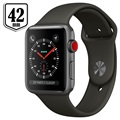 Apple Watch Series 3 LTE MR302ZD/A - Aluminium, Bracelet Sport, 42mm, 16Go - Gris Sidéral/Gris