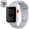 Apple Watch Series 3 MQKU2ZD/A - Aluminium, Bracelet Sport, 38mm, 8Go - Argenté/Nuage