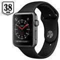 Apple Watch Series 3 MQKV2ZD/A - Aluminium, Bracelet Sport, 38mm, 8Go - Gris Sidéral/Noir