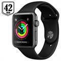 Apple Watch Series 3 MQL12ZD/A - Aluminium, Bracelet Sport, 42mm, 8GB - Gris Sidéral/Noir