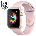 Apple Watch Series 3 MQL22ZD/A - Aluminium, Bracelet Sport, 42mm, 8Go - Doré/Rose des Sables