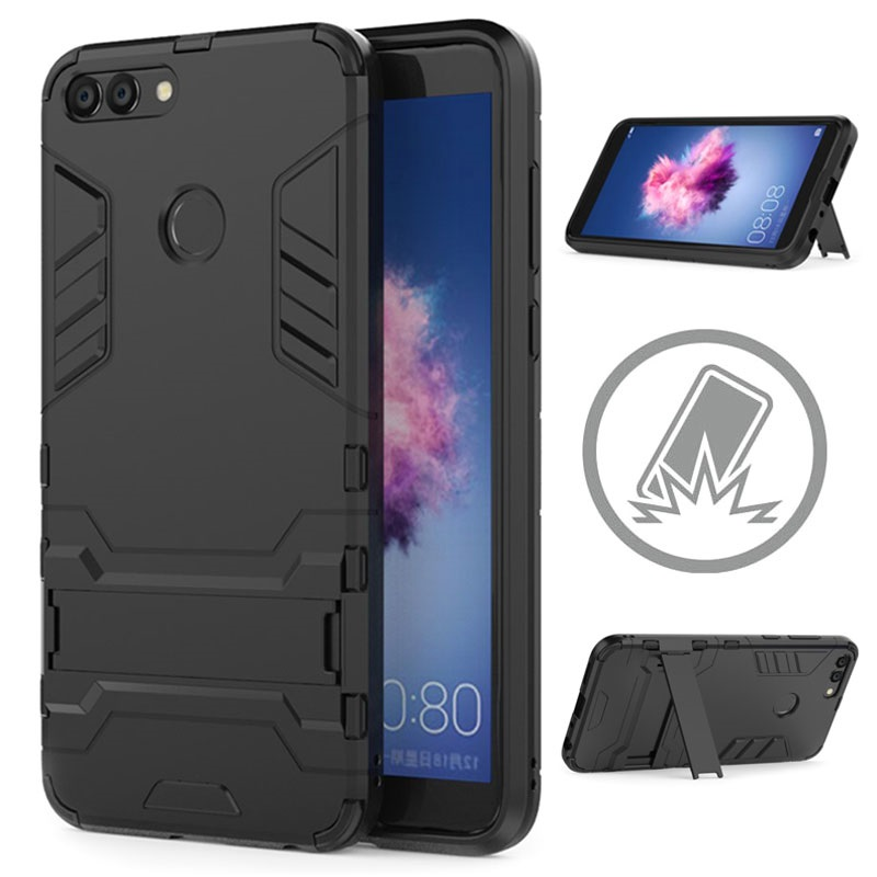 coque hybride armor avec b quille pour huawei p smart noire. Black Bedroom Furniture Sets. Home Design Ideas