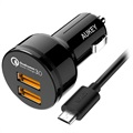 Chargeur Voiture Aukey CC-T8 Qualcomm Quick Charge 3.0 - Double USB