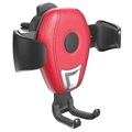 Support Voiture / Chargeur Sans Fil Qi Awei CW2 Gravity - Rouge