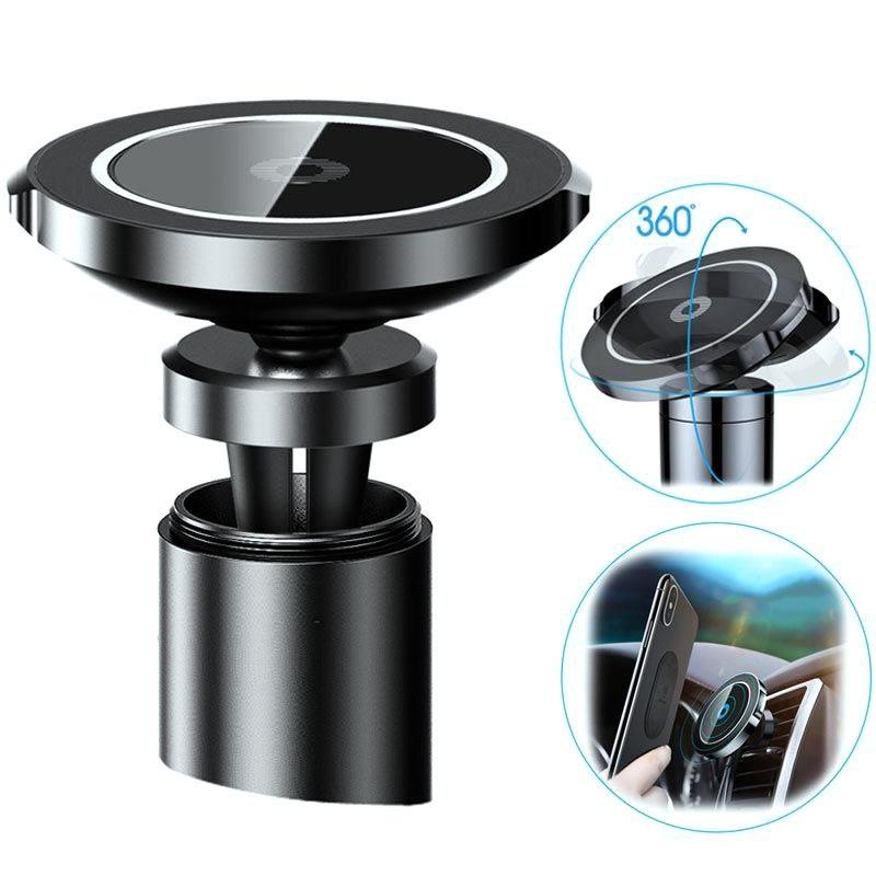 chargeur sans fil qc2 0 qi support voiture magn tique. Black Bedroom Furniture Sets. Home Design Ideas