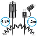 Chargeur Voiture 2-en-1 Baseus Enjoy Together - Type-C, Lightning