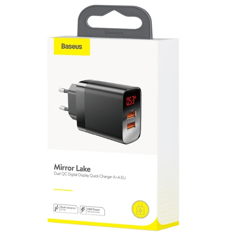 Chargeur Mural Double USB Baseus Mirror Lake - 18W