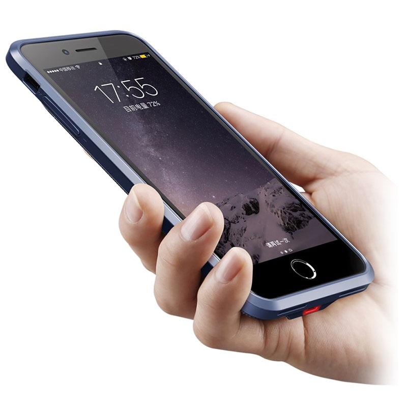 coque batterie de secours baseus slim pour iphone 7 plus iphone 8 plus bleue. Black Bedroom Furniture Sets. Home Design Ideas