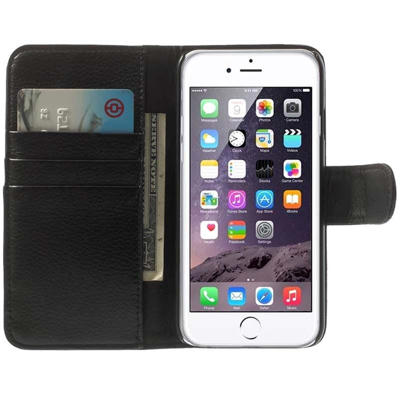 etui portefeuille clip de ceinture pour iphone 6 6s noir. Black Bedroom Furniture Sets. Home Design Ideas