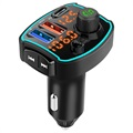 Bluetooth FM Transmitter & Fast Car Charger BC69 - PD, QC3.0 - 18W