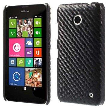 6b839f106bd Coque Rigide pour Nokia Lumia 630 - Fibre de Carbone