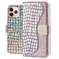 Etui Portefeuille iPhone 11 Pro Croco Bling