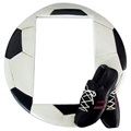 Cadre Photo Effect Fun Football 8.5x13 - Noir / Blanc