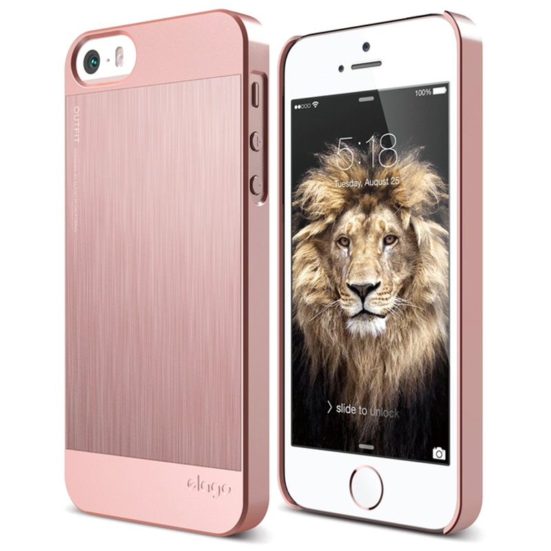 coque elago outfit matrix pour iphone 5 5s se rose dor. Black Bedroom Furniture Sets. Home Design Ideas