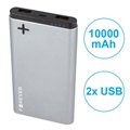 Batterie Externe Double USB Forever PTB-04M Power+ - 10000mAh - Grise