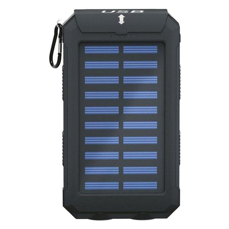 Power Bank / Chargeur Solaire Goobay Outdoor 8.0 - 8000mAh - Noir