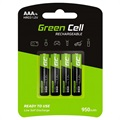 Piles Rechargeables AAA Green Cell HR03 - 950mAh - 1x4