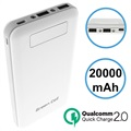 Batterie Externe Green Cell PB93 Qualcomm QC 2.0 - 20000mAh - Blanche