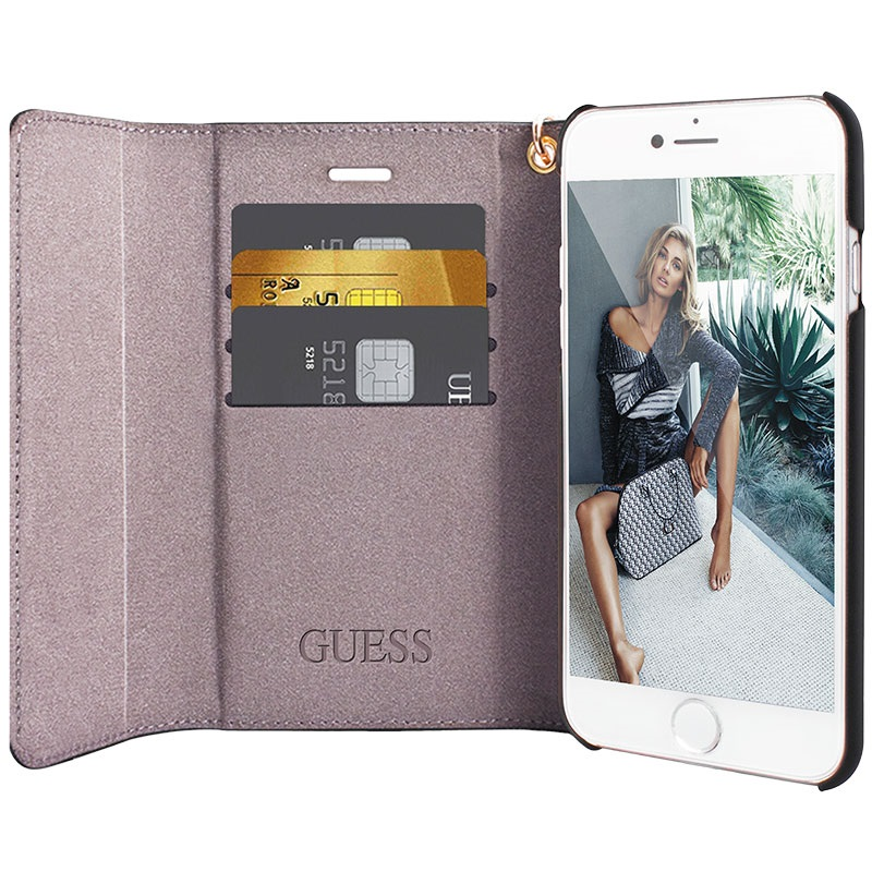 coque iphone 7 portefeuille guess