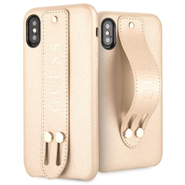 Coque iPhone X / iPhone XS Guess Saffiano Strap