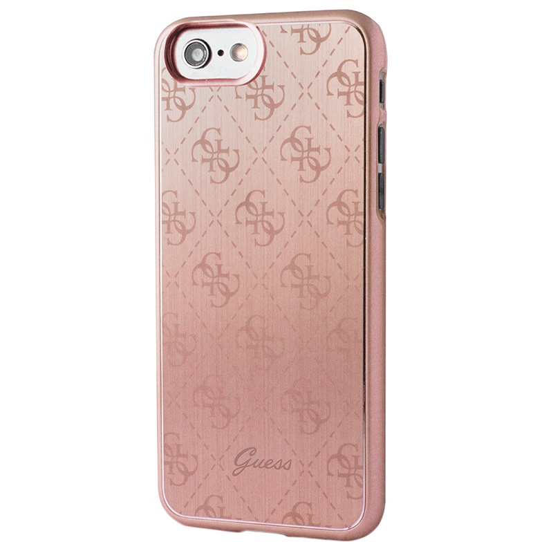 coque guess signature 4g pour iphone 7 iphone 8 rose dor. Black Bedroom Furniture Sets. Home Design Ideas