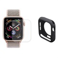 Set de Protection Complète Apple Watch Series 5/4 Hat Prince - 44mm - Noir