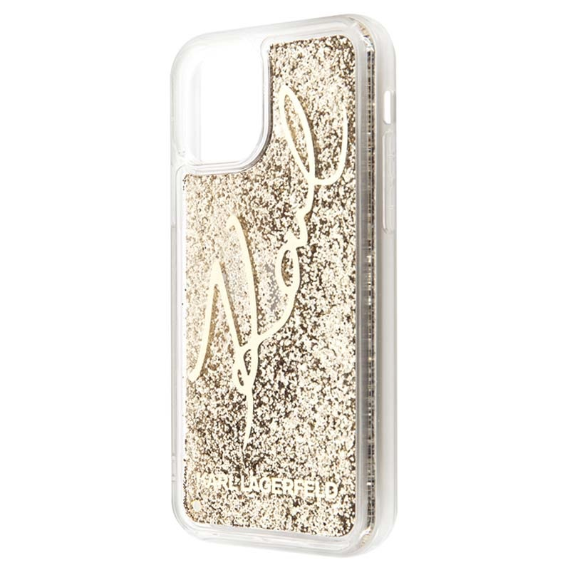 Coque iPhone 11 Pro Karl Lagerfeld Signature Liquid Glitter