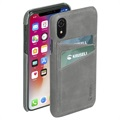 Coque en Cuir iPhone XR Krusell Sunne 2 Card - Gris